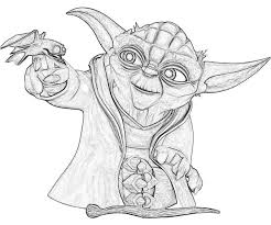 yoda coloring pages images reverse