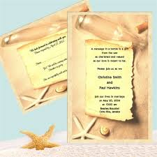 wedding invitations in a bottle message in a bottle theme paper invitations response cards