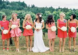 bridesmaid dresses coral beautiful coral colored bridesmaid dresses elite wedding looks