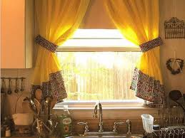 kitchen charming kitchen curtain ideas photos with yellow fabric