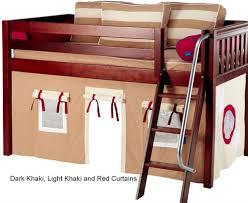 Maxtrix Bunk Bed Maxtrix Bunk Bed Tents For Kids Dark Khaki Light Khaki And Red
