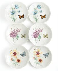 lenox dinnerware set of 6 butterfly meadow plates