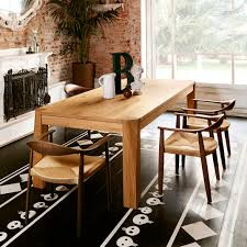 traditional dining table wooden rectangular commercial