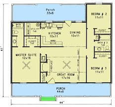 starter home floor plans starter home with two covered porches 3435vl architectural