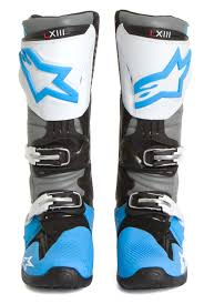 tech 10 motocross boots alpinestars mx boots tech 10 cyan white grey 2016 maciag offroad