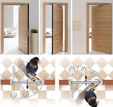 Swing Door Hinges Interior Space Saving Swing Doors Pivot On Hinges