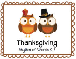 thanksgiving rhythm of words k 2 by beth at sweetly sings the songbird