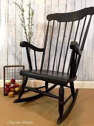 Unfinished Child S Rocking Chair How To Paint A Rocking Chair With Spindles The Easy Way
