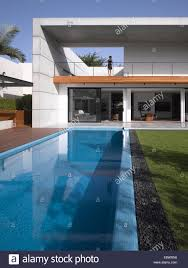 house with swimming pool double height exterior facade with swimming pool dahan house