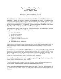 template for technical report technical memo report
