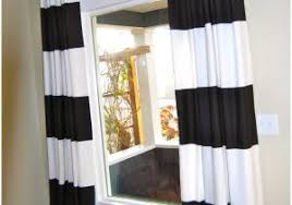 white curtains with navy trim 1745 accent your windows with