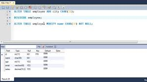 Alter Table Change Column Name Sql Tutorial 55 The Alter Table Command