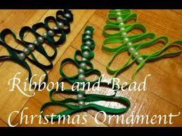 diy ribbon bead tree ornament theeasydiy crafty