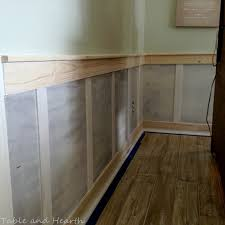 our diy board and batten wainscoting table and hearth