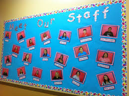 meet our staff bulletin board education pinterest staff
