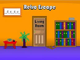 retro escape living room