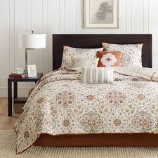 Coverlet Bedding Sets Amazon Com Madison Park Tissa 6 Piece Quilted Coverlet Set Full