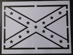 Black And White Rebel Flag Rebel Confederate Flag Stencil U2013 My Custom Stencils