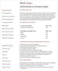 Free Administrative Assistant Resume Templates Entry Level Administrative Assistant Resume Sample Best Business