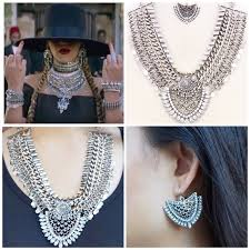 earrings statement necklace images Formation statement necklace and earrings beyonce poshmark jpg