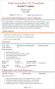 executive resume template sales executive cv template tips and cv plaza