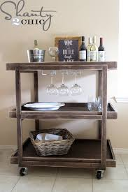 Creative Diy Wood Ls Wooden Bar Cart Archives Diy Done Right