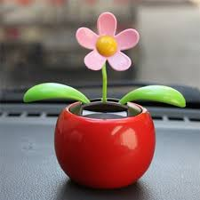 solar powered flower swinging animated dancer car