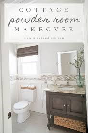 poder room diy board and batten cottage powder room makeover