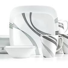 corelle square 16pc dinnerware set simple sketch dinnerware