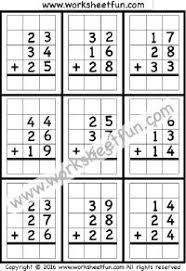 2 digit subtraction u2013 no regrouping u2013 4 worksheets printable