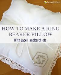 wedding pillow rings a ring bearer pillow from wedding handkerchiefs