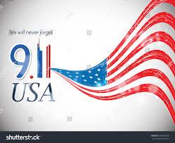 9 11 Remembrance Flag Creative Vector Illustration Usa 9 11 Stock Vector 403093705