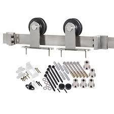 Barn Door Tracking by Shop Sliding Barn Door Hardware At Lowes Com