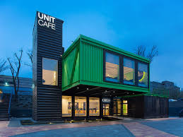 this flamboyant café in kiev is made out of 14 shipping containers