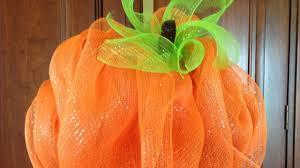 deco mesh pumpkin youtube