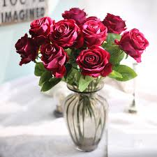 artificial roses aliexpress buy 5 heads cheap artificial roses flowers