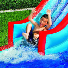 backyard water slide park bounce house jumper kid splash pool sale
