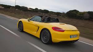 yellow porsche boxster 2012 porsche boxster s drive review autoweek