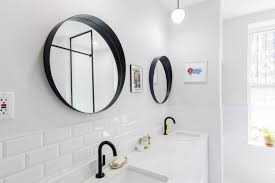 Black Mirror Bathroom Bathroom Remodel Transforms From Beige To Uber Chic