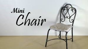 Furniture Chair Miniature Furniture Chair Tutorial Youtube