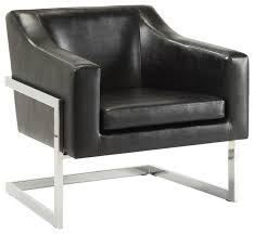 Black And White Armchairs Contemporary Accent Chair With Metal Frame Contemporary