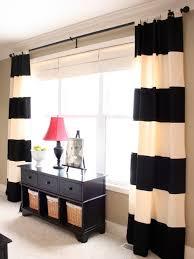 Family Room Drapery Ideas Black White Curtain Ideas Houzz