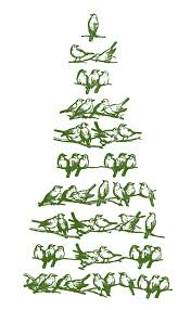 vintage clipart christmas tree pencil and in color vintage
