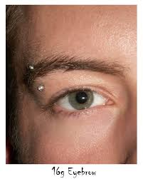 piercing with silver stud