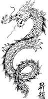 line art traditional chinese dragon scales and pattern without