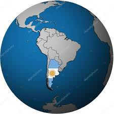 Argentina Flag Photo Argentina Flag On Globe Map U2014 Stock Photo Michal812 13825222