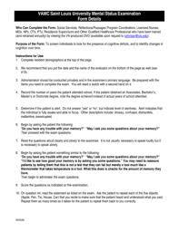 mental state examination template mental status examination