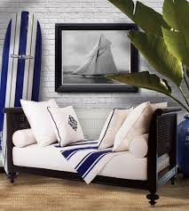 Nautical Home Decorations Crafted From Sustainable Mahogany Madras Daybed Nautical Home