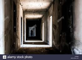 white and and black halloween background abandoned building ghost living place with scary woman inside