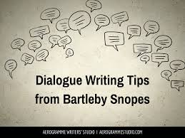 Challenge Snopes Dialogue Writing Tips From Bartleby Snopes1 Jpg